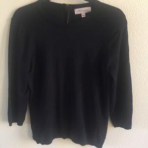 PHILOSOPHY Black Pullover Zip Back Sweater L